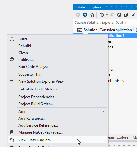 756 viewing a class diagram in visual studio 2012 2000 things a diagram will appear that shows all of the types in your project in this example the diagram also shows that terrier is a subclass of dog and that the ccuart Choice Image